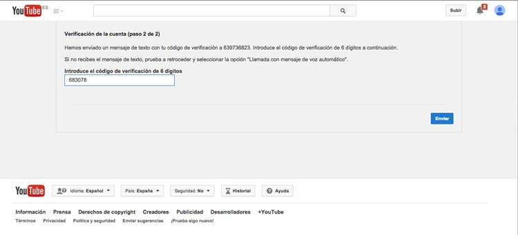 Youtube09-CodigoVerificacion