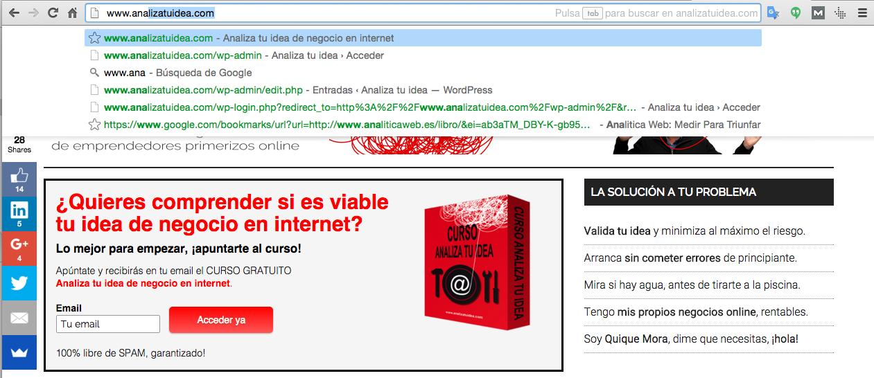 Tráfico directo internet www.analizatuidea.com