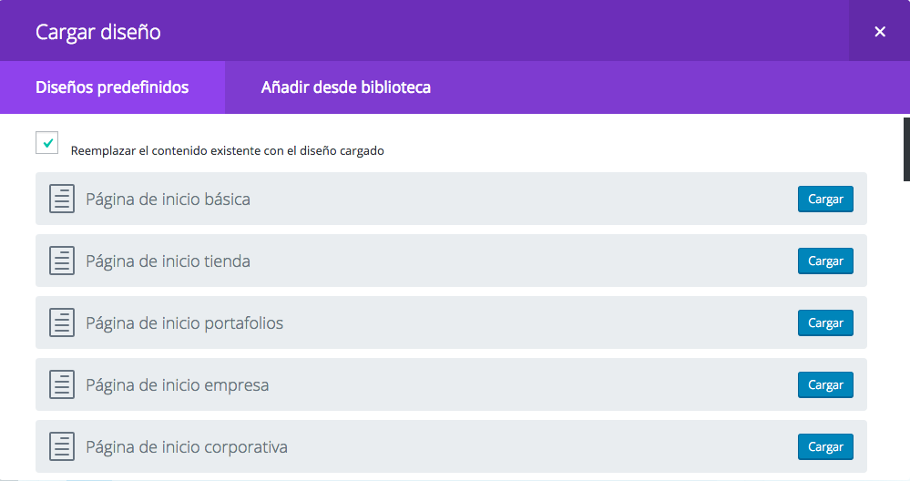 divi-theme-wordpress-nueva-pagina-divi-disenos-predefinidos