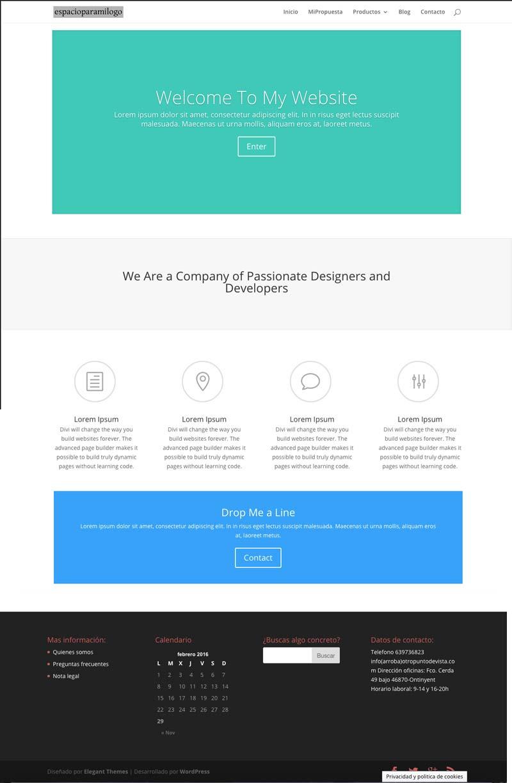 divi-theme-wordpress-nueva-pagina-inicio